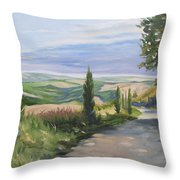 Tuscan Walk Throw Pillow