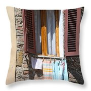 Tuscan Window And Laundry Throw Pillow