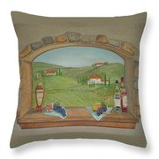 Tuscan Window View Throw Pillow