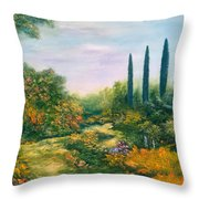 Tuscany Atmosphere Throw Pillow by Hannibal Mane