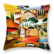 Tuscany Collage Throw Pillow