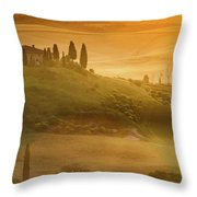 Tuscany In Golden Throw Pillow