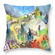 Tuscany Landscape 03 Throw Pillow