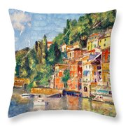 Tuscany On The Lake Throw Pillow