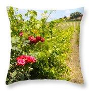 Tuscany Villa And Roses Throw Pillow