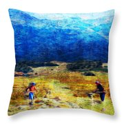 Tusheti Hay Makers I Throw Pillow