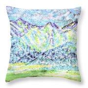 Tusheti Hay Meadows Caucasus Mountains I Throw Pillow