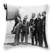 Tuskegee Airmen, 1942 Throw Pillow