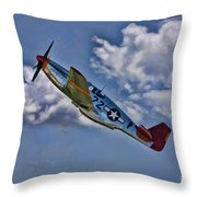Tuskegee Mustang Red Tail Throw Pillow