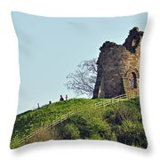 Tutbury Castle Ruins Throw Pillow