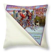 Tweed Run London 2 Guvnors  Throw Pillow
