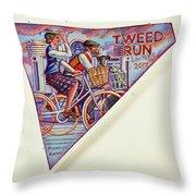 Tweed Run London Princess And Guvnor  Throw Pillow