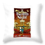 Twelfth Night Poster Throw Pillow