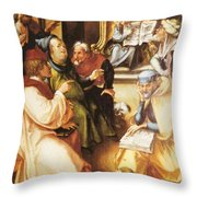 Twelve Year Old Jesus In The Temple 1497 Throw Pillow
