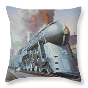Twenthieth Century Limited Throw Pillow