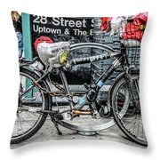Twenty Eight Street Throw Pillow