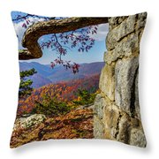 Twenty Minute Cliff Blue Ridge Parkway I Throw Pillow