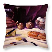 Twenty Seven Cents And Bread Throw Pillow