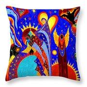 Angel Fire Throw Pillow