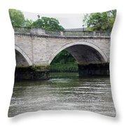 Twickenham Bridge Spans The Thames Throw Pillow