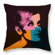 Twiggy Pop Art 2 Throw Pillow