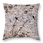Twilight Arrives On Raven Wings Throw Pillow