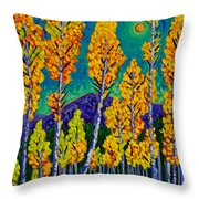 Twilight Aspens Throw Pillow