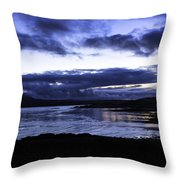 Twilight At Loch Bracadale Throw Pillow