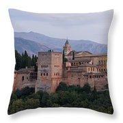 Twilight At The Alhambra Throw Pillow