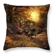 Twilight Autumn Garden Throw Pillow