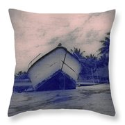 Twilight Boat  Throw Pillow