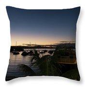 Twilight Cruz Bay Throw Pillow