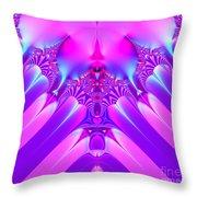 Twilight Descending Fractal Throw Pillow