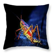 Twilight Grasshopper Throw Pillow