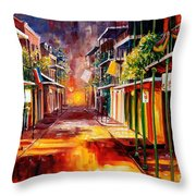 Twilight In New Orleans Throw Pillow by Diane Millsap