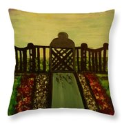 Twilight In The Park Throw Pillow by Marie Bulger