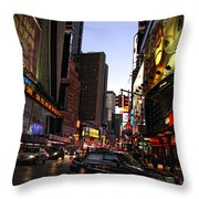 Twilight In The Streets Throw Pillow