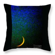 Cornicopial Cresent Moon  Throw Pillow