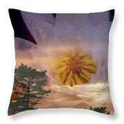 Twilight Lily Throw Pillow