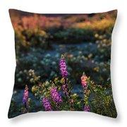 Twilight Lupine Throw Pillow
