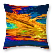 Twilight Of The Day Throw Pillow