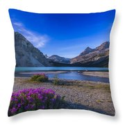 Twilight On Bow Lake, Banff National Throw Pillow