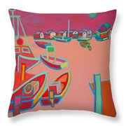 Twilight On Menemsha Throw Pillow