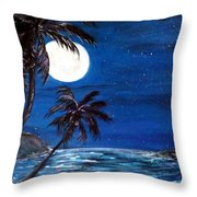 Twilight On The Bay Throw Pillow
