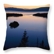 Twilight Over Emerald Bay Throw Pillow