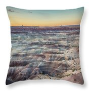 Twilight Over The Painted Desert Throw Pillow