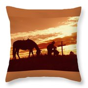 Twilight Prayer Throw Pillow