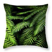 Twilight Rainforest Fern  Throw Pillow