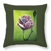 Twilight Rose Throw Pillow