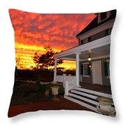 Ambassador House At Twilight Throw Pillow